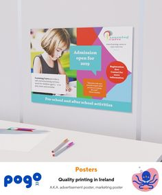Single or double-sided poster printing, in a range of sizes and paper options. Quality printing for maximum impact. Easy-to-use website for stress-free ordering with Pogo. Marketing Poster, Advertising Poster, Make Your Own Poster, Business Poster, Online Posters, Custom Posters, Stress Free, Pre School, Printing Services