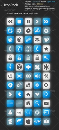 Mini Icon Pack Two — Photoshop PSD #dark blue #web icons • Download here → https://graphicriver.net/item/mini-icon-pack-two/116677?ref=pxcr