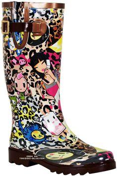 Tokidoki boots #ihavetheserainboots X<3 I got these rainboots for my birthday 2 years ago :)