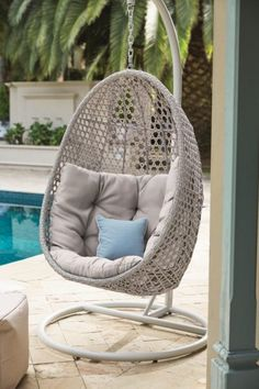 Ein Hängeei Aus Polyrattan Für Deine Terrasse, Den Garten Oder Den Balkon *  Wohnideen Für