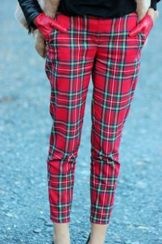 Jawbreaker Red Tartan Plaid Skinny Jeans Pants Skinnies Punk Rock ...
