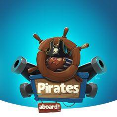 Aleksandr Pushai on Behance Pirate Games, Pirate Theme, Pirate Illustration, Level Design, Vikings Game, Game 2d, Game Logo Design, Game Props, Little Games