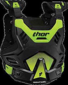Thor Mens Sentinel GP Chest Protector MX ATV BMX Motocross Black/Green XL/2XL