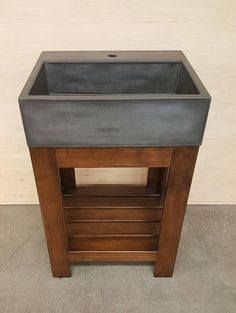 22 Rectangle with Extension and Maple Stand Farmhouse Bathroom Sink, Laundry Room Sink, Bathroom Sink Vanity, Laundry Room Design, Kitchen Basin, Washroom, Concrete Sink, Concrete Countertops, Concrete Design