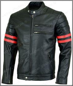 Men's Genuine Lambskin Leather Jacket Black Slim fit Motorcycle Stylish jacket-2…