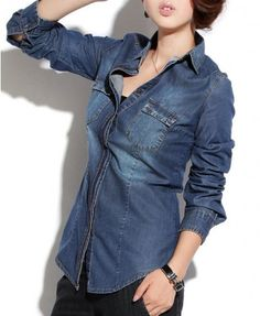 Blue Denim Blouse