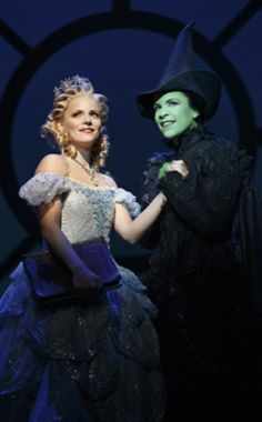 Lindsay Mendez and Katie Rose Clarke as Elphaba and Galinda. Broadway Wicked, Wicked Musical, Broadway Plays, Wicked Witch, Theatre Nerds, Musical Theatre, The Witches Of Oz, Defying Gravity, Drama