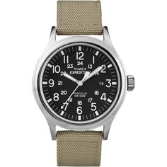 Timex Expedition Scout Metal Watch - Khaki/Black - https://www.boatpartsforless.com/shop/timex-expedition-scout-metal-watch-khakiblack/