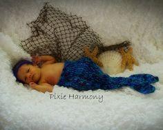 Photo Prop  Mermaid  Cocoon  Blues  Ocean Colors  by pixieharmony, $26.95