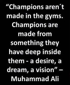Muhammad Ali, Positive Quotes, Champion, Positivity, Gym, Fitness, Quotes Positive, Excercise, Gymnastics Room