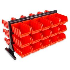 30 Bin Tool Storage Rack Organizer- Two Sided Container with Removeable Drawers for Tools, Hardware, Crafts, Office Supplies and More by Stalwart Crate Storage, Storage Bins, Tool Storage, Storage Rack, Storage Drawers, Storage Containers, Tool Drawer Organizer, Small Storage, Small Parts Organizer