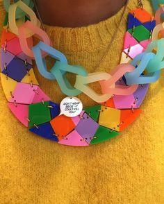 Sound advice from @suekreitzman #tattydevine #tattydevinesamplesale #tdsamplesale #colour #abmlifeiscolorful #perspex #yellow by krishnalondon - Pinned by @FancyAsMilly on instagram -