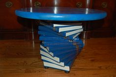 Got donated old encyclopedias? Make a table! » book.table