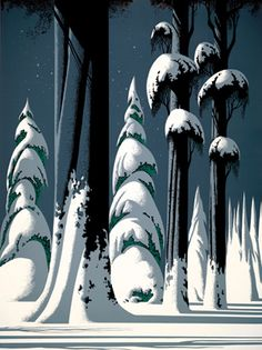 Yosemite - Eyvind Earle -  Eyvind Earle was an American artist, author and illustrator, noted for his contribution to the background illustration and styling of Disney animated films in the 1950s.   Born: April 26, 1916, New York City  Died: July 20, 2000