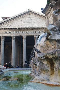The Pantheon, Rome...we ate lunch at a restaurant right in front of the Pantheon, it was so amazing to east such a casual meal in front of such a beautiful and historical landmark