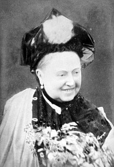 Queen Victoria -- smiling!