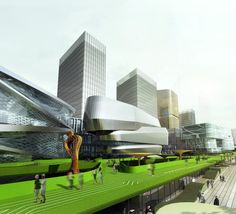 Southern Island of Creativity / Chengdu Urban Design Research Center,the sky street 03