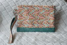 Wristlet Clutch Bag Purse by BeeBlessed on Etsy, $14.00