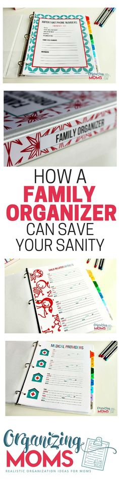 A Family Organizer can save your sanity! Read about how to use your Family Organizer to make your home life easier, and prepare for emergencies!