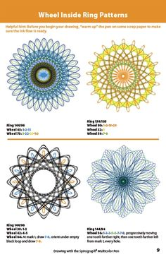 Drawing With the Spirograph Multicolor Booklet - Sample Original Spirograph, Spirograph Art, Zentangle, Paper Bag Book Cover, Line Doodles, Drawing Machine, Plastic Canvas Patterns, Light Painting, Repeating Patterns