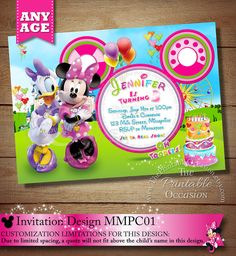 Minnie Mouse and Daisy Duck Invitation by ThePrintableOccasion