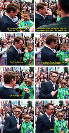 Love RDJ's interactions with kids!