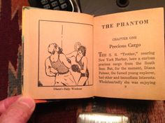 """Page one of The Phantom """"Big Little Book"""" features the Phantom's girlfriend Diana Palmer beating the Sheol out of some hapless punk as part of her """"daily workout"""". This was the first panel from the first Phantom strip in 1936."""