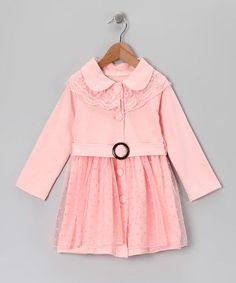 Pink Lace Button-Up Dress - Toddler & Girls by Butterflies & Moonbeams on #zulily #baby #clothes #clothing #infant #toddler #shower #gift #girl #girls #skirt #dress #lace #holiday #christmas #party #polkadot #swiss #dot #polka #swing #retro #vintage #outfit #festive #rose #miabelle #mia #belle #lace #belted #church #thanksgiving #dinner #picture #portrait #family #card #cards #dressup #peterpan #collar #peter #pan