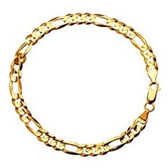 "Klassics 10k Yellow Gold 6mm Figaro Men's Bracelet, 8""  http://electmejewellery.com/jewelry/mens-jewelry/mens-bracelets/klassics-10k-yellow-gold-6mm-figaro-men39s-bracelet-8-com/"