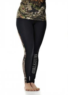 Girls With Guns Clothing Running Pants - Black/Mossy Oak Break Up Country®