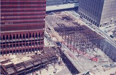 Construction of the World Trade Center ca. 1969 / Collection of the 9/11 Memorial Museum, Gift of the Family of Peter Zindulka