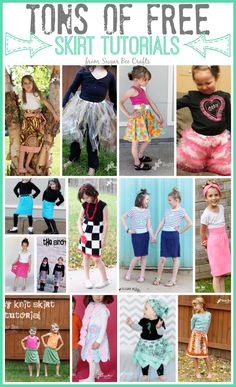 tons of FREE skirt tutorials patterns - love all of them! - - Sugar Bee Crafts