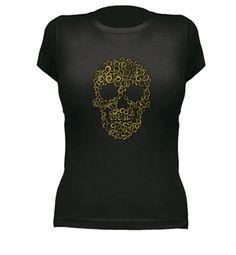 Camiseta Calavera gold