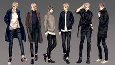 Alfred, Francis, Kiku, Arthur, Gilbert, and Antonio - Art by Sumi Tooru - Click the pin for a full-sized version!
