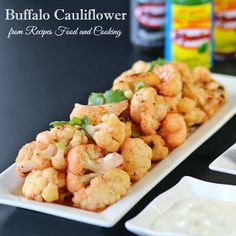 Grilled Buffalo Cauliflower and Hot Wings - Recipes Food and Cooking