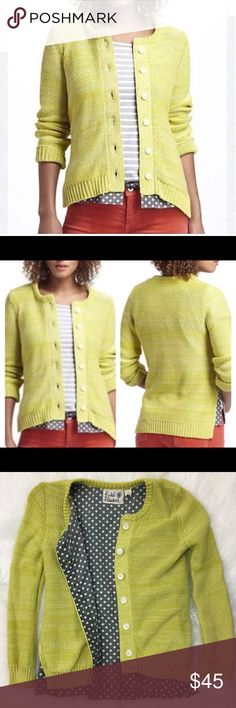 Anthropologie Cardigan Sweater Polka Dot 161 Size Medium Material: See Photos  Condition: See Photos  Super cute! Anthropologie Sweaters Cardigans