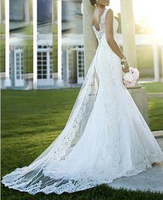 New white/ivory wedding dress custom size colour