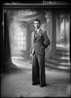 Photo of a man in a suit by Norbert Ghisoland, 1930's