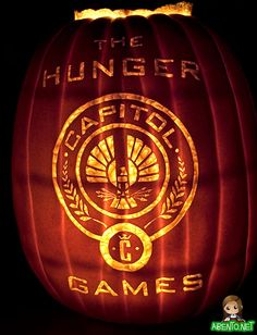 The Hunger Games. Literary Pumpkins For A Bookish Halloween.