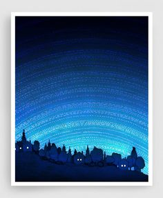 Earth calling (vertical) - Nature Art Home decor Wall decor Wall art Print Poster Modern Nature drawing Turquoise Blue Night sky Space signs by tubidu on Etsy https://www.etsy.com/listing/165871835/earth-calling-vertical-nature-art-home