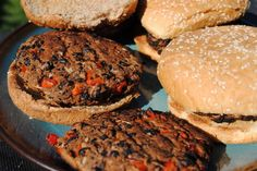 Black Bean Burgers *gluten free* These are really good.