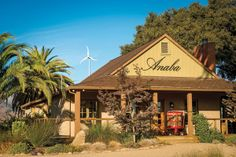 Anaba Wines was the first winery in Northern #California to use wind energy in the production of #wine! The turbine generates enough power to run many things, including their renovated century-old farmhouse which now serves as a charming tasting room.