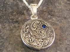 Hand Engraved Sterling Silver Scrollwork by JelliesJewelry on Etsy, $169.00