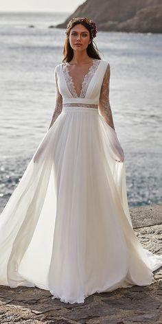Greek Wedding Dresses, Beach Bridal Dresses, Lace Wedding Dress, Cheap Wedding Dress, Bridal Gowns, Wedding Gowns, Low Key Wedding Dress, Bohemian Style Wedding Dresses, Bohemian Bride