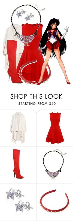 """Sailor Mars"" by found-herself-in-wonderland-13 ❤ liked on Polyvore featuring Alexander McQueen, Giuseppe Zanotti, Betsey Johnson, MBLife.com, Valentino and Forum"