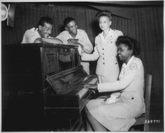 Red Crossworkers and College Graduates in musical Fun at Assam, India- 1944 - Author Unknown