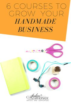 Looking for online business courses to help with your handmade business? We have six awesome ones for you.