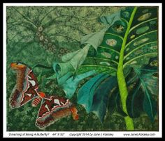 "If you're going to be in Texas, be sure to stop by the Texas Quilt Museum in La Grange for the exhibit ""Butterflies and Their Beautiful Kin"" from April 3 - June 29, 2014."