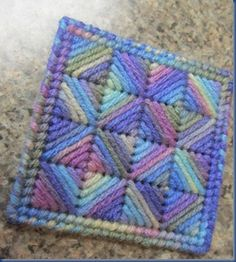 Kaleidoscope Needlepoint Coasters Tutorial