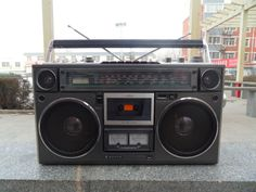 Vintage SANYO M9994 Stereo Boombox Ghettoblaster.....................Please save this pin. .............................. Because for vintage collectibles - Click on the following link!.. http://www.ebay.com/usr/prestige_online